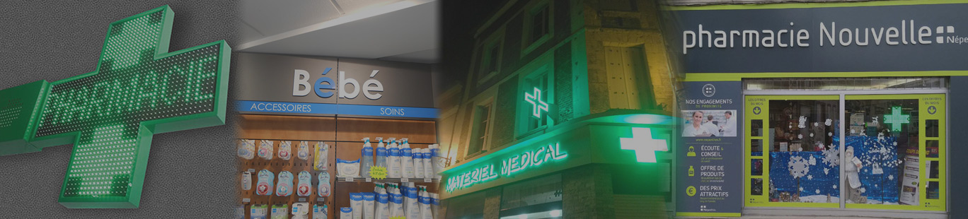 Aménagement et croix de pharmacie à Amiens