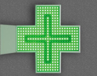 Croix signalisation pharmacie robuste Amiens
