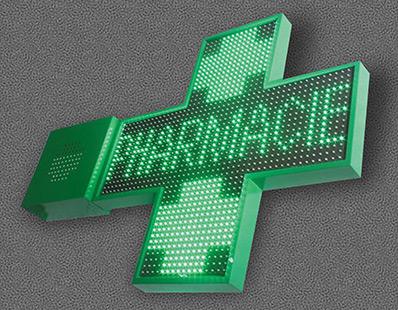 Vente de croix de pharmacie animée et programmable à Amiens