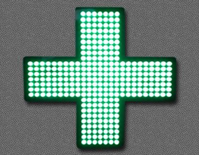 Croix vitrine pharmacie Amiens-1