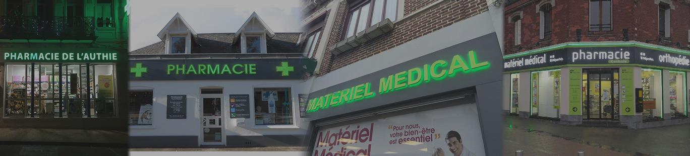 Enseignes de pharmacie à Amiens