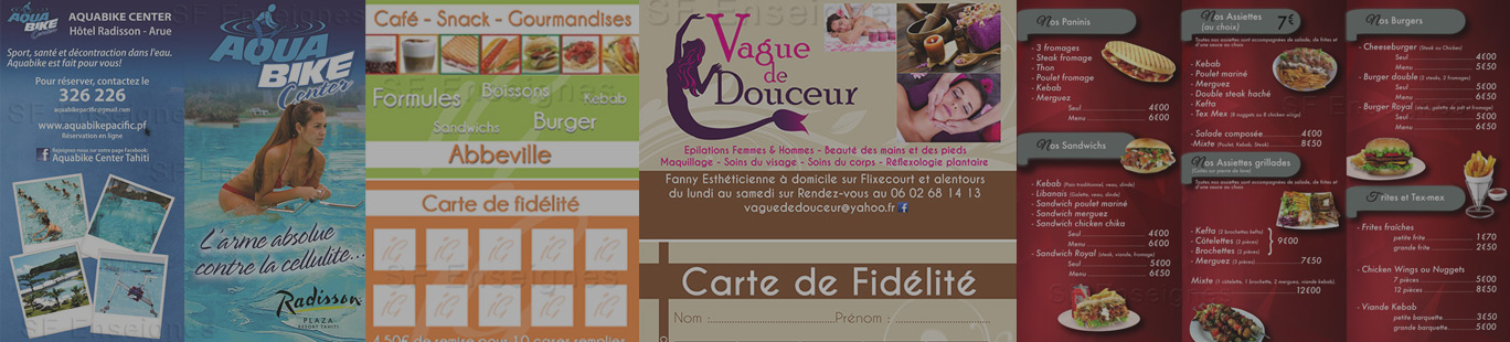 communication flyer carte visite brochure amiens sf enseignes. Black Bedroom Furniture Sets. Home Design Ideas