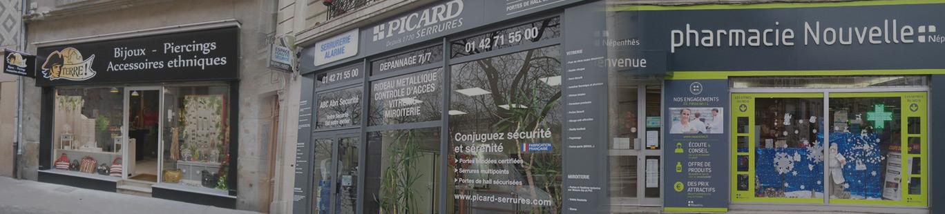 Habillage et aménagement de façade de commerce à Amiens