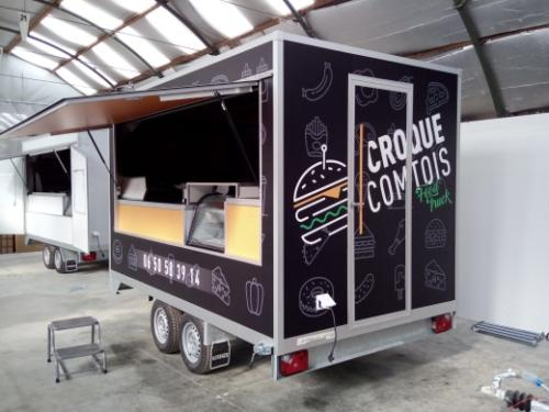 CROQUE COMTOIS flocage covering véhicule voiture camion amiens