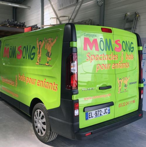 MOMSONG flocage covering véhicule voiture Amiens