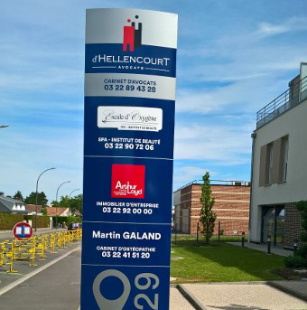 TOTEM Fabricant totems publicitaire signalisation Amiens