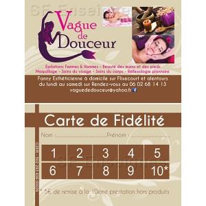 création impression carte visite fidélité Amiens Picardie Somme