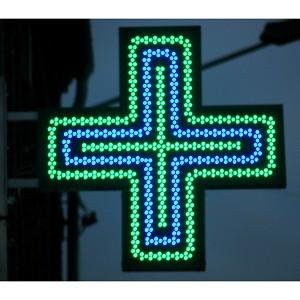 Croix de pharmacie à Amiens