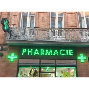 Enseignes lumineuse pharmacie à Amiens