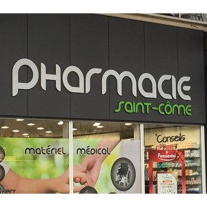 Fabricant enseigne lumineuse lettre relief Amiens pharmacie