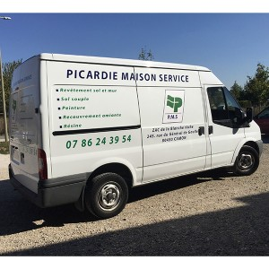 flocage covering véhicule fourgon camionette Amiens