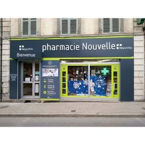 habillage de façade de pharmacie à Amiens