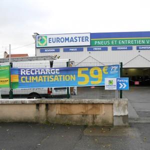 Signalétique PLV Amiens bâche publicitaire