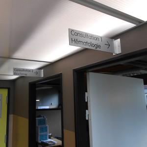Signalétique PLV Amiens magasin commerce panneau directionnel