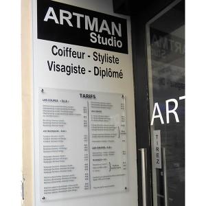 Signalétique PLV Amiens magasin commerce panneau tarif