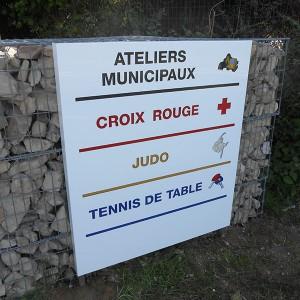 Signalétique PLV Amiens panneau directionnel