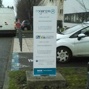 Fabricant totems publicitaire signalisation Amiens